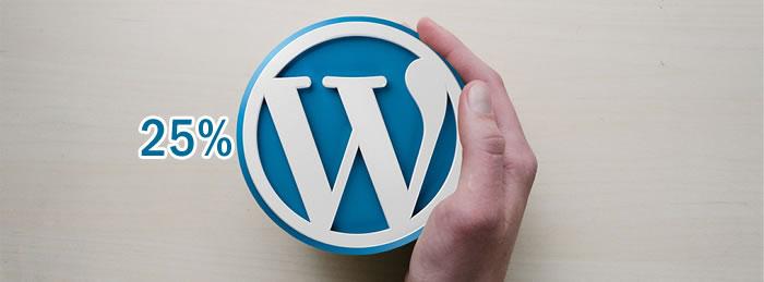 Ahora 25% de las Webs está creada en WordPress
